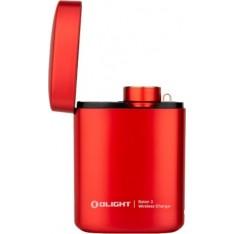 Фонарь Olight Baton 3 Premium Red с зарядной станцией. Красный