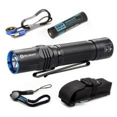 Фонарь Olight M2R Warrior NW/CW + аккумулятор Li-ion 3500 мА/ч, зарядное USB