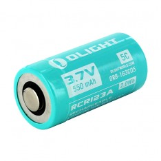Аккумулятор Olight RCR123A 550mAh для S1R, S10R и т.д., защищенный
