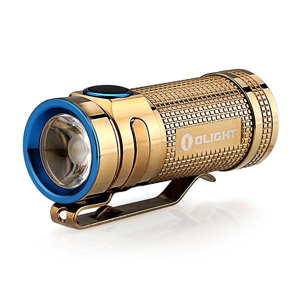 Фонарь Olight S mini Limited Copper, цвет золотой + аккумулятор в подарок!